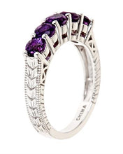 Load image into Gallery viewer, Brand New Ring with 1.25ctw amethyst 925 Silver sterling silver