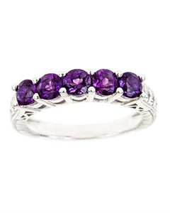Brand New Ring with 1.25ctw amethyst 925 Silver sterling silver