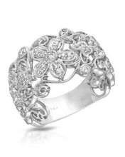 Load image into Gallery viewer, Brand New Ring with 0.13ctw diamond 14K White gold