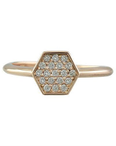 0.22 Carat 14K Rose Gold Diamond Ring