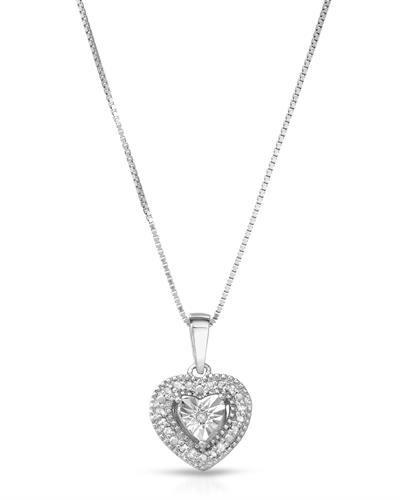 Brand New Necklace with 0.1ctw diamond 925 Silver sterling silver