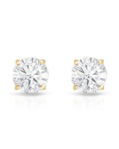 Brand New Earring with 0.13ctw diamond 14K Yellow gold