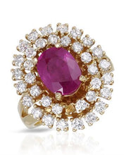 Load image into Gallery viewer, Lundstrom Brand New Ring with 4.12ctw of Precious Stones - diamond and ruby 14K Yellow gold