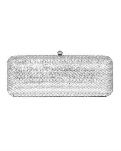 Dolli Lilac Brand New Clutch with 0ctw crystal  Silver base metal