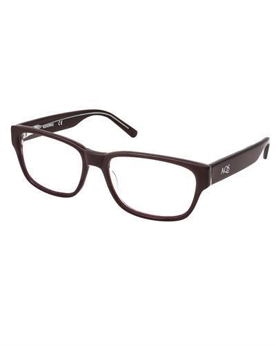 AQS ODX001 Red Dexter Brand New Eyeglasses  Brown plastic