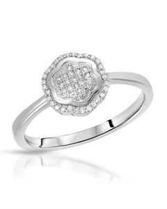 Lundstrom Brand New Ring with 0.12ctw diamond 10K White gold