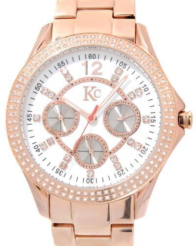 KC Brand New Japan Quartz day date Watch with 0ctw crystal