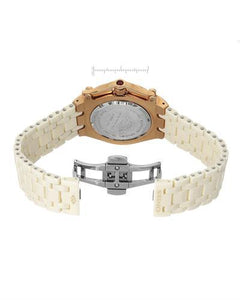 Oniss ON669-LRG Paris Brand New Swiss Quartz date Watch with 0ctw of Precious Stones - crystal and mother of pearl