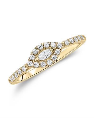 Kono Collection Brand New Ring with 0.37ctw of Precious Stones - lab-grown diamond and lab-grown diamond 14K Yellow gold