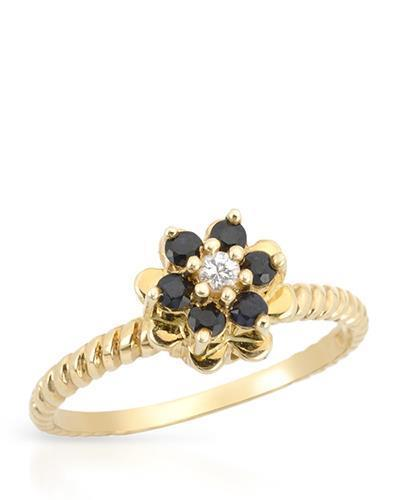 Brand New Ring with 0.3ctw sapphire 14K Yellow gold