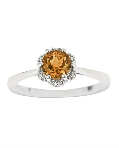 Brand New Ring with 0.7ctw citrine 925 Silver sterling silver
