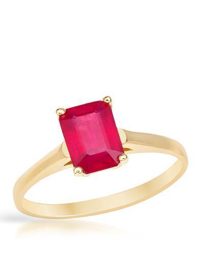 Brand New Ring with 2.2ctw ruby 14K Yellow gold