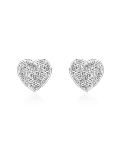 Brand New Earring with 1.1ctw diamond 14K White gold