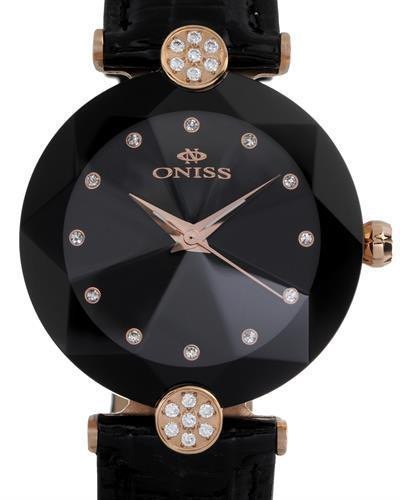 Oniss ON8776-LRGBK PARIS Brand New Swiss Quartz Watch with 0ctw crystal