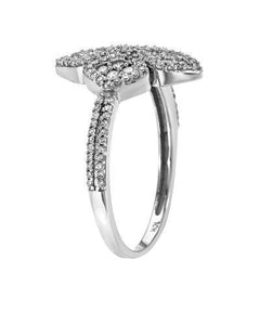 Lundstrom Brand New Ring with 0.44ctw diamond 10K White gold