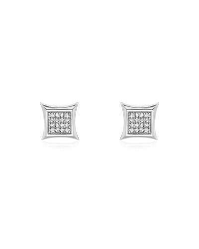Brand New Earring with 0.12ctw diamond 14K White gold