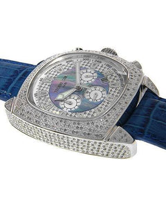 Techno Com WA003945 Brand New Quartz date Watch with 1.85ctw of Precious Stones - diamond and mother of pearl