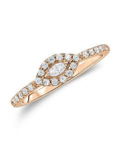Kono Collection Brand New Ring with 0.37ctw of Precious Stones - lab-grown diamond and lab-grown diamond 14K Rose gold