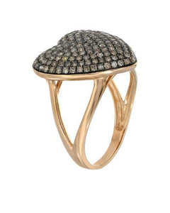 Lundstrom Brand New Ring with 0.81ctw diamond 10K Rose gold