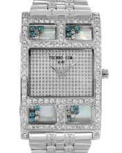 Load image into Gallery viewer, Techno Com by KC Brand New Quartz Watch with 4ctw of Precious Stones - crystal, diamond, and mother of pearl