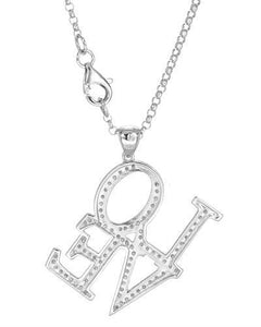 Brand New Necklace with 0.42ctw diamond 14K White gold