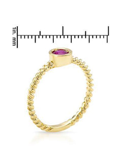 Brand New Ring with 0.45ctw ruby 14K Yellow gold