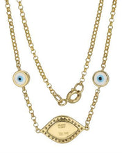Load image into Gallery viewer, Brand New Necklace with 0.09ctw diamond  Multicolor Enamel and 14K Yellow gold