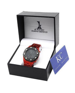 KC WA005735 Brand New Quartz day date Watch with 2.25ctw diamond