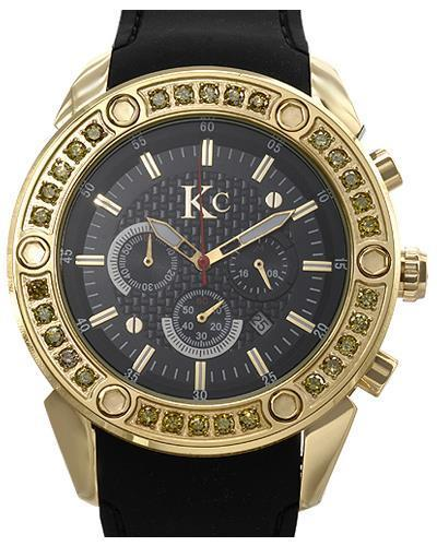 KC WA006354 Brand New Quartz date Watch with 3.2ctw diamond
