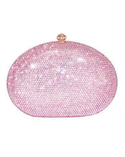Load image into Gallery viewer, Dolli Rose Brand New Clutch with 0ctw crystal  Rose base metal