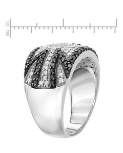Lundstrom Brand New Ring with 1.1ctw of Precious Stones - diamond and diamond 10K White gold
