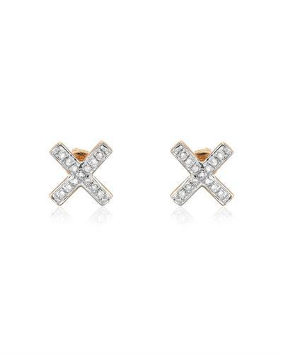 Brand New Earring with 0.15ctw diamond 14K Rose gold