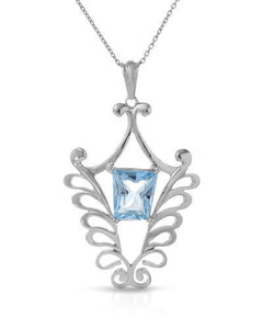 Brand New Necklace with 5.68ctw topaz 925 Silver sterling silver
