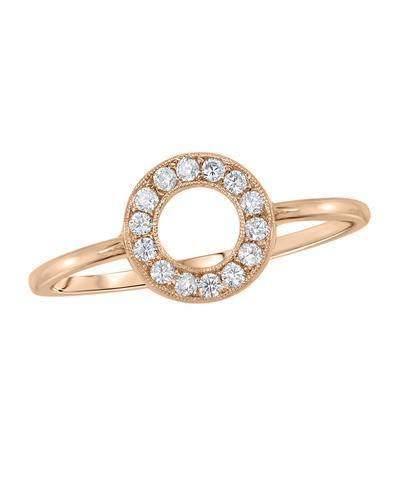 Kono Collection Brand New Ring with 0.14ctw lab-grown diamond 14K Rose gold
