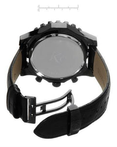 Techno Com by KC Brand New Japan Quartz date Watch with 0ctw mother of pearl