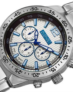 AUGUST Steiner AS8128SS Brand New Swiss Quartz day date Watch
