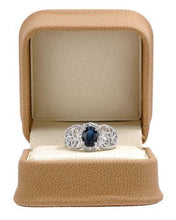 Load image into Gallery viewer, Brand New Ring with 1.2ctw of Precious Stones - diamond and sapphire 14K White gold