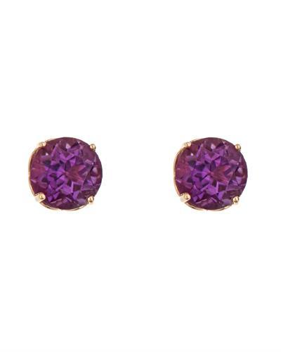Brand New Earring with 0.92ctw amethyst 14K Yellow gold
