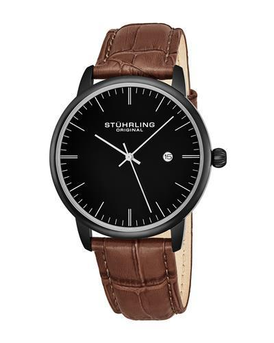 STUHRLING ORIGINAL 3997.5 Brand New Quartz day date Watch