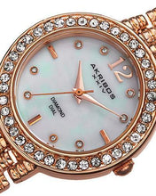 Load image into Gallery viewer, Akribos XXIV AK757RG Brand New Swiss Quartz Watch with 0.04ctw of Precious Stones - crystal, diamond, and mother of pearl