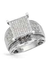 Load image into Gallery viewer, Lundstrom Brand New Ring with 0.45ctw diamond 925 Silver sterling silver