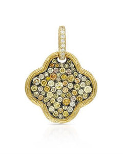 Brand New Pendant with 1.26ctw of Precious Stones - diamond and diamond 14K Yellow gold