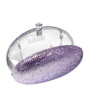 Load image into Gallery viewer, Dolli Rose Brand New Clutch with 0ctw crystal  Silver base metal