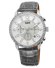 Load image into Gallery viewer, burgi BUR089GY Brand New Quartz date Watch with 0ctw of Precious Stones - crystal and mother of pearl