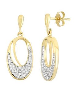 Brand New Earring with 0.4ctw diamond 10K Yellow gold