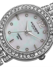 Load image into Gallery viewer, Akribos XXIV AK757SS Brand New Swiss Quartz Watch with 0.04ctw of Precious Stones - crystal, diamond, and mother of pearl