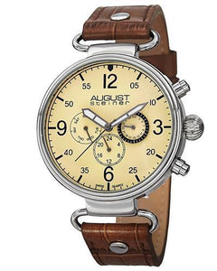 AUGUST Steiner AS8131BR Brand New Swiss Quartz day date Watch