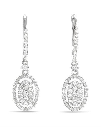 Brand New Earring with 0.74ctw diamond 14K White gold