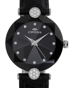 Oniss ON8776-LBK PARIS Brand New Swiss Quartz Watch with 0ctw crystal