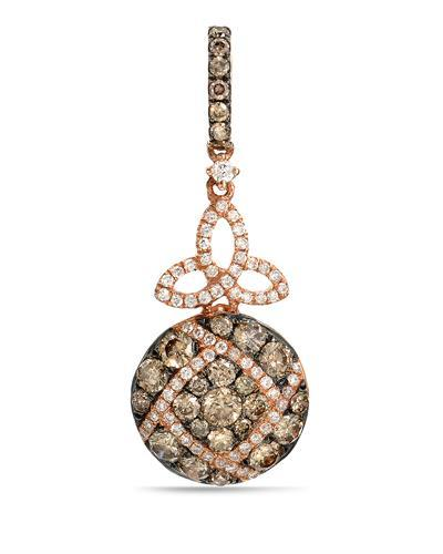 Brand New Pendant with 1.01ctw of Precious Stones - diamond and diamond 14K Rose gold